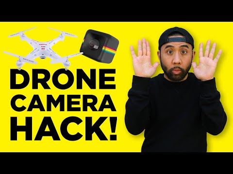 Syma X5C Quadcopter + Polaroid Cube Camera Hack