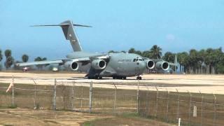 C-17 Globemaster taking-off @ Rafael Hernandez Airport, Aguadilla, PR (BQN)