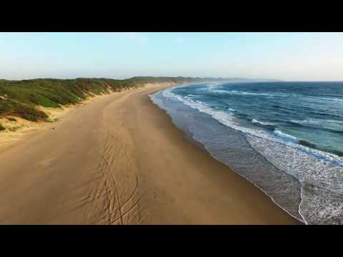 Slow Motion Drone The Beach - Royalty Free Stock HD Video Footage
