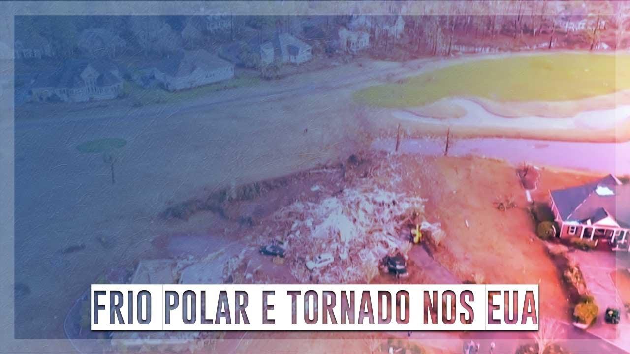 Frio e tornado nos EUA