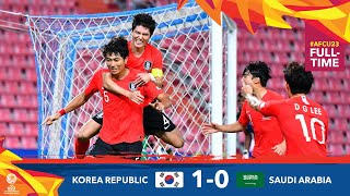 #AFCU23 M32- KOREA REPUBLIC 1 …