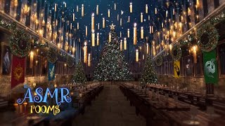 Christmas at Hogwarts Great Hall 🎄 ☃ Harry Potter 1 hour holiday music ASMR magical soundscape