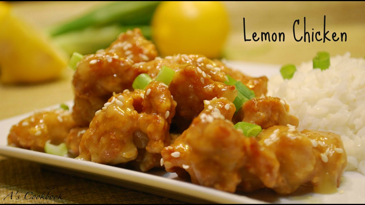 Lemon Chicken Recipe - Chinese Style - YouTube