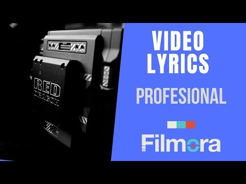 Como Hacer Tu Propio Video Lyrics Con Filmora 9