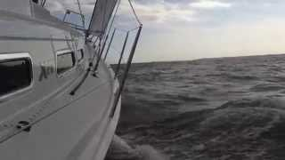 X-Yachts test sailing the Xc 35 in Chesapeake Bay