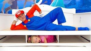 Nastya e pai novo quarto para princesa