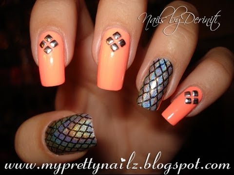 Easy edgy diamond studded nail art design tutorial with born easy edgy diamond studded nail art design tutorial with born pretty store studs prinsesfo Choice Image