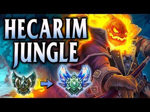 Diamond Ranked Headless Hecarim Jungle Buffed!   Unranked to Diamond Flex #4 - League of Legends S8