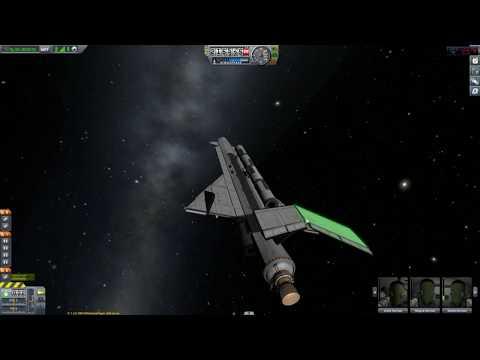 KSP Modern Space shuttle and magic carpet ride