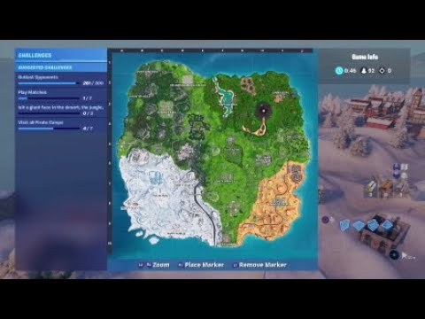 Visit Stone Heads Locations: Fortnite Season 8