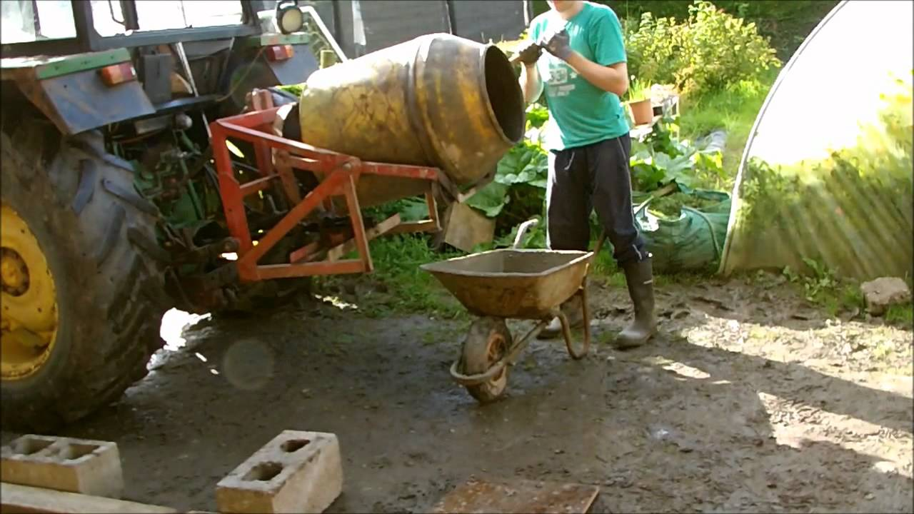 Teagle Tipmix Cement Mixer For Tractor Youtube