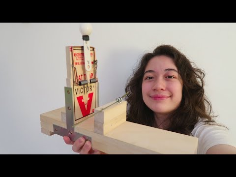 How to make an adjustable mousetrap catapult