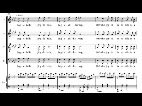 Pierpont  Jingle bells best original version; á 4; 1857
