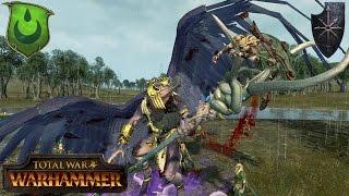 Wood Elves Skirmish vs. Chaos Rush - Total War Warhammer Multiplayer Battle