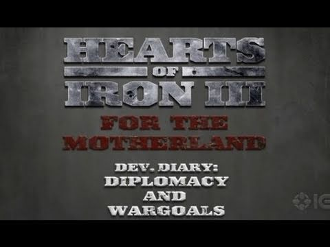 Hearts of Iron 3: For the Motherland - Diplomacy Trailer