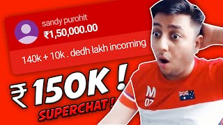 INDIAS HIGHEST SUPERCHAT  ₹150000 -  MOCHA GETS EMOTIONAL ON SILVER PLAY BUTTON UNBOXING!