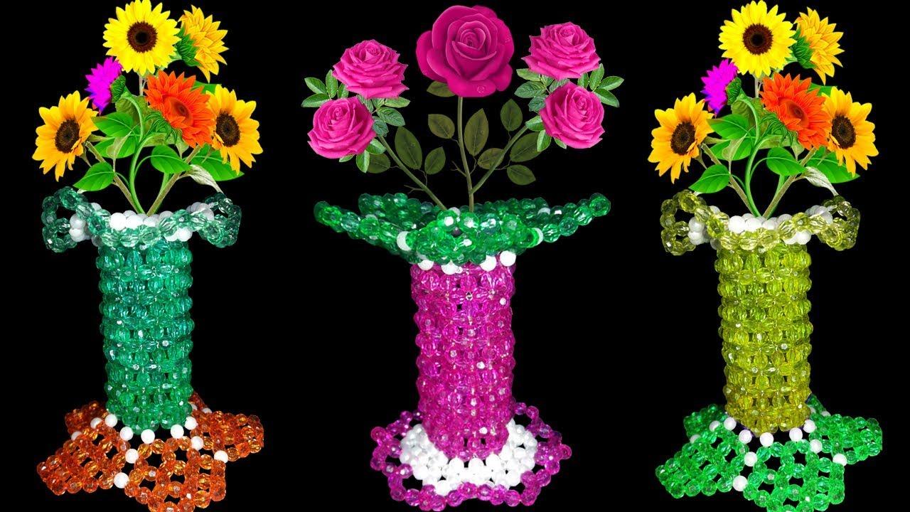 YouTube & UNIQUE : Beaded Flower Vase Tutorial