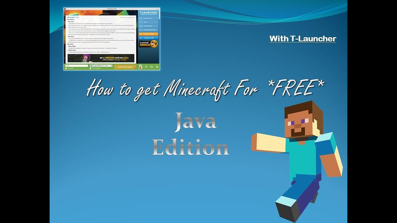 How to get Minecraft for FREE Using T-Launcher - YouTube
