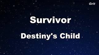 Survivor - Destiny's Child Karaoke【Guide Melody】