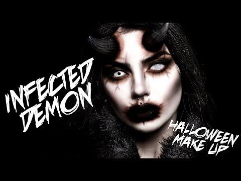INFECTED DEMON HALLOWEEN MAKE UP | Beatriz Mariano streaming vf