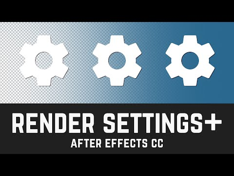 T017 How to render with Alpha channels in After Effects CC