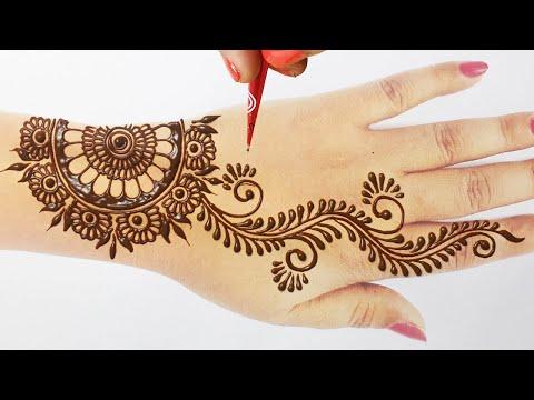 ये आसान सी सूंदर मेहँदी डिज़ाइन आप राखी तीज त्यौहार पे ज़रूर लगाए | Arabic Henna Mehndi | Rakhi Mehndi