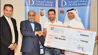 Xavi Hernandez won 1 million Qatar Rials From Lottery! What a Luck!