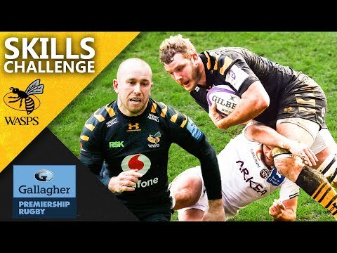 Wasps Take On The Premiership Rugby Skills Challenge! | Gallagher Premiership 2020