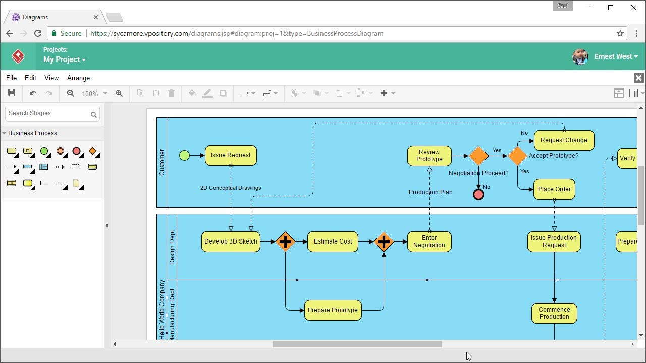sketch diagram online 2000 honda prelude radio wiring how to draw bpmn diagrams youtube