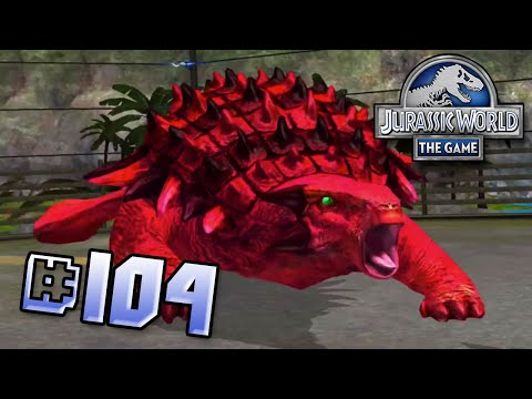 Blood Ankylosaur! Brawlasaurs!! || Jurassic World - The Game - Ep 104 HD