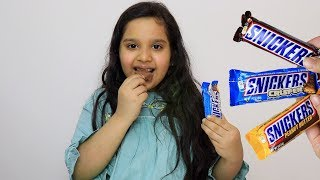 Fingers Family Kid Song Colorful snickers chocolate - Kinderlieder und lernen Farben Baby spielen
