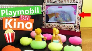 Playmobil DIY Kino 🍿 ECHTE FILME für eure Playmobil Figuren | Super coole Bastel Idee