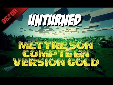 how to make gold work unturned
