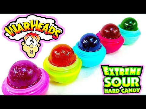 DIY  EOS you CAN EAT! WARHEADS EXTREME SOUR Candy Treat!! Super Sour, Satisfying EDIBLE Candy!!