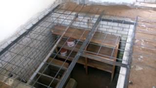 Вязка арматуры для бетонной крышки погреба