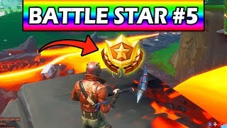 Fortnite: WEEK 5 SECRET BATTLE STAR LOCATION GUIDE! Find the Secret Battle Star in Loading Screen #5