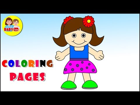 Doll Coloring Page For Kids | Color Learning Videos For Children