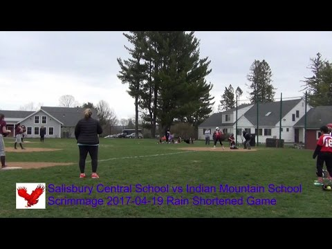 Salisbury Central School Girls Softball vs Indian Mountain School Scrimmage 2017-04-19