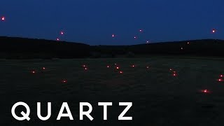 This swarm of drones can think for itself