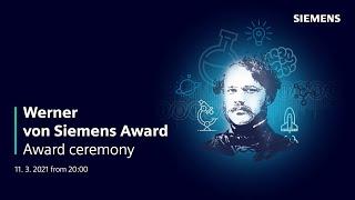 Werner von Siemens Award 2020 Ceremony