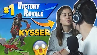 SHE GIVES ME A KISS & WINS WILDEST GAME! -FORTNITE ENGLISH
