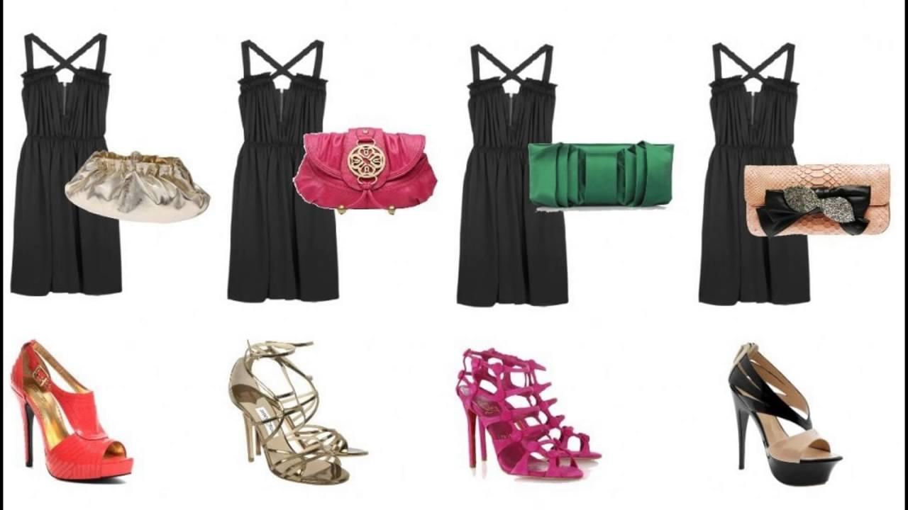 Bolsa De Festa Tem Que Combinar Com Sapato : Sapato e bolsa para vestido preto b?sico curto look