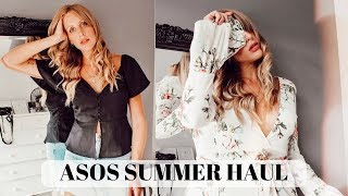 ASOS Summer Haul & Try On | Wrap dress & button dress shopping