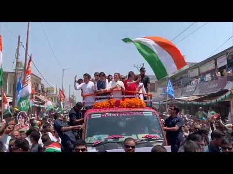 Congress President Rahul Gandhi holds a roadshow in Amethi