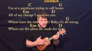 Payphone (Maroon 5) Easy Ukulele Cover Lesson with Chords & Lyrics