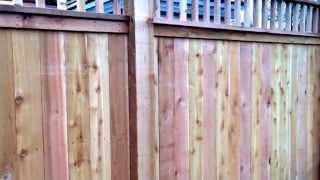 All Western Red Cedar Deck Rail Privacyfence Nashville Tn K & C Fence Company Www.fencenashville.net