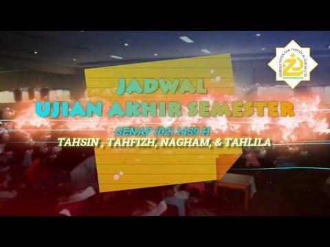 Jadwal UAS Genap dan Ifthar Jama'i -  LTQ LPM STID Moh. Natsir 1439 H