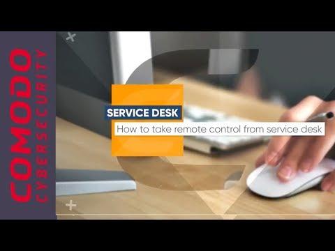 How To Take Remote Control | Comodo One Service Desk - YouTube