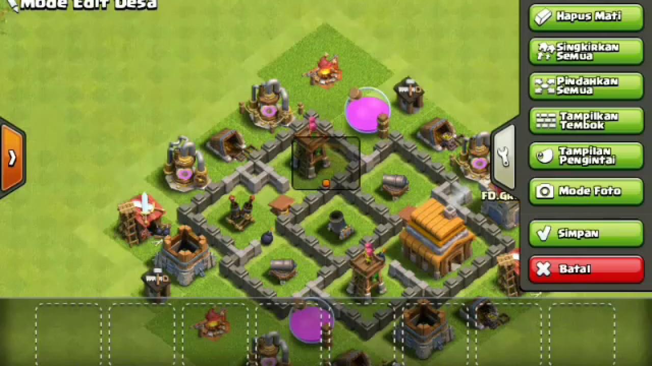 Base Coc Th 4 Pertahanan Kuat 3