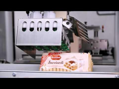 TLM packaging machine without an electrical cabinet packages Italian biscuits